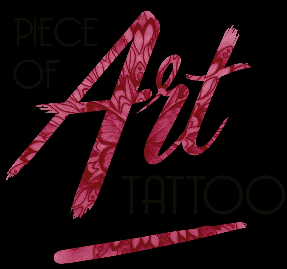 Website laten maken - PieceOfArtTattoo logo zwartletter Zonder Website