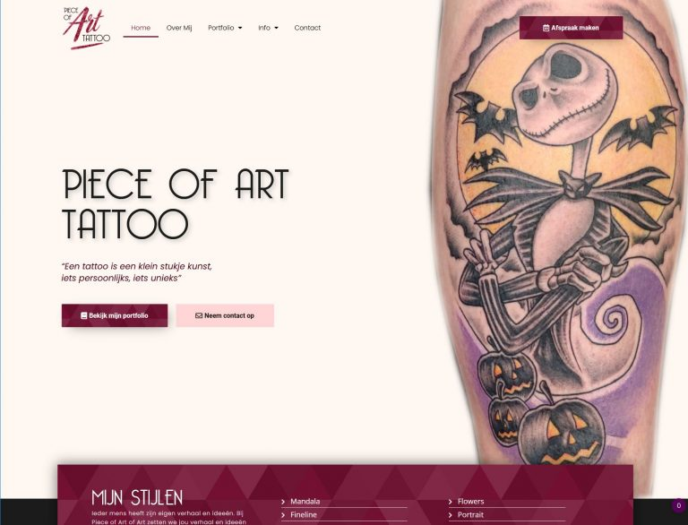 Website laten maken - Pieceofart